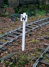 SM 32 G SCALE GAUGE 3 GARDEN RAILWAY WHISTLE SIGN SET OF 2