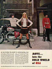 1967 BSA LIGHTNING PALACE GUARD VINTAGE MOTORCYCLE AD POSTER PRINT 24x18 9 MIL
