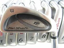 Used Wilson Fat Shaft 3-PW IRONS IRON Set Steel S-Flex