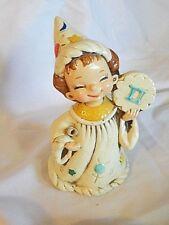 Josef Original Figurine Ceramic Wizard Zodiac Little Girl Libra Justice Scales