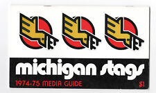 1974-75--MICHIGAN STAGS--WHA HOCKEY--MEDIA GUIDE--NMT