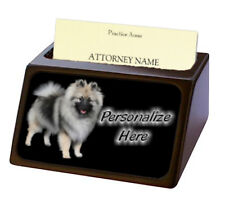 Keeshond ( 1 ) Pet Breed Personalized Business Card Holder