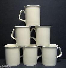 Set of 6 White Marlborough Shape Fine Bone China Mug Cups Beakers 10 floz