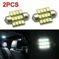 2 x CAR 12V LED 31MM FESTOON INTERIOR WHITE LIGHT BULB 12SMD AUTO DOME GLOBE2 x