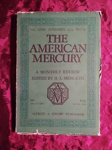 AMERICAN MERCURY Magazine September 1929 LEONARD HALL M L BATEY H. L. Davis