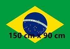 Drapeau BRESIL 150 x 90 cm Bresilien Brazil Flag Polyester Leger NEUF foot