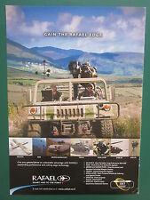2000'S PUB RAFAEL ISRAEL DEFENSE FORCES HUMVEE UAV SPIKE-ER SPOTLITE ORIGINAL AD