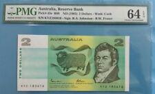 1985 Australia $2 PMG64 EPQ <P-43e> UNC