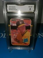 GMA 8 NM-MINT MARK MCGWIRE 1987 DONRUSS #46RATED ROOKIE ! LONG GONE SUMMER🔥⚾️💪