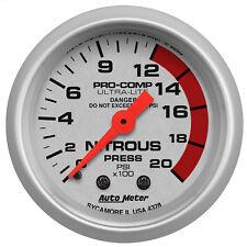 Autometer 4328 Ultra-Lite Nitrous pressure Gauge 2-1/16 in., Mechanical