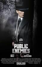 PUBLIC ENEMIES Movie POSTER 27x40 D Johnny Depp Christian Bale Billy Crudup