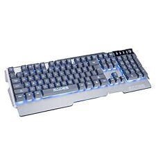 SADES k9 Waterproof Gaming Keyboard 3 Adjustable Colors Backlight 104 Keys Metal