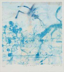 John Olsen • Morning at the Lily Pond • 63 x 61cm