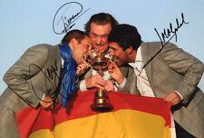Sergio Garcia, Jimenez & Olazabal, Ryder Cup, signed 12x8 photo. COA. Proof.