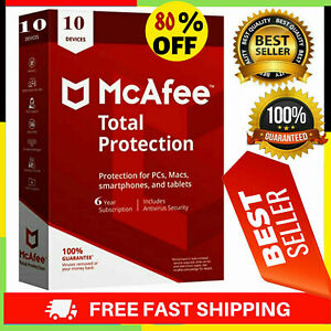 🔰 McAfee Total Protection 2021 Antivirus✅ 10 Devices✅ 10 Years 🔰 Woldwide🔰