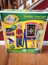 Crayola Qwikflip Glow Easel 10 Light-up Sequences Chalk Board Age 4+ New