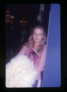 Peggy Lipton Candid Pose with Elvis Pin up Portrait Original 35mm Transparency