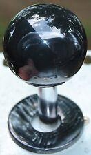 "Custom Hand Made Sanwa Ball Top ""Real Stone"" Black Mother of Pearl"