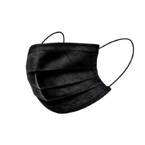 Face cover Black non woven Fabric Face Mask (X10) - Breathable, Reusable