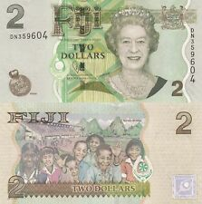 Fiji 2 Dollars (2012) -Island People/Queen Elizabeth/p109b UNC