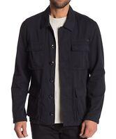 John Varvatos Star USA Men's Long Sleeve 4 Pocket Field Jacket Dark Indigo