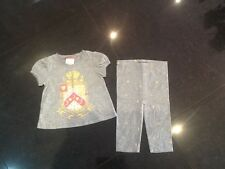 Juicy Couture New & Genuine Baby Girls Grey Cotton 2 Piece With Logo 6/12 MTHS