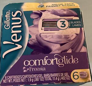Gillette Venus ComfortGlide Freesia Women's Razor Blade Refills, 6 Count