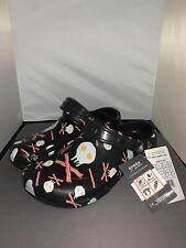 Crocs Bistro Graphic Clog Black 'Eggs & Bacon Breakfast' M9/W11 204044-013