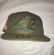 Carolina Panthers New Era Salute To Service 59FIFTY Fitted Hat Cap 7 3/8 NWT $42