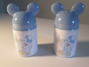 VINTAGE GOURMET CHEF MICKEY MOUSE CERAMIC SALT AND PEPPER SHAKER SET