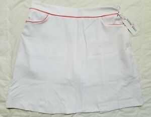 1 NWT CATHERINE WINGATE WOMEN'S SKORT, SIZE: 8, COLOR: WHITE/PINK (J186)