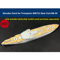 TMW 1/700 Wooden Deck for Trumpeter 06711 USS New York BB-34 Ship Model