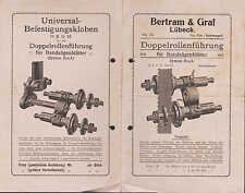 LÜBECK, Werbung um 1925, Doppelrollenführung für Bandsägeblätter, Bertram & Graf