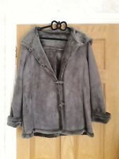 Ladies Faux Shearling Hooded Jacket Size 16 by Casual Club at Debenhams
