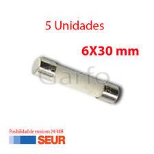 5X Fusible Ceramica 6X30 mm 8A 250V. Pack 5 Fusibles