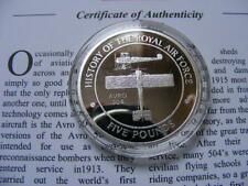 Gibraltar 2008 Silver Proof £5 Pounds RAF Avro 504 +COA Free Post