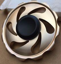 light gold metal wheel finger hand spinner fidget spinning toy steel bearing