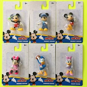 Disney Junior Mickey Collectable Mini Figure Mickey, Minnie, Donald & Daisy Duck