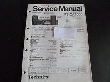 Original Service Manual  Technics Cassette Deck RS-CA1060
