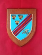 ROYAL ENGINEERS ENGINEER RESOURCES PARK OAK WALL SHIELD PLAQUE LONG MARSTON