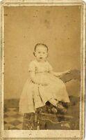 1860s Civil War Tax Revenue Stamp CDV Photo Little Girl in Dress 29