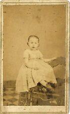 1860s CIVIL WAR TAX REVENUE STAMP LITTLE GIRL IN DRESS CARTE DE VISITE CDV 29