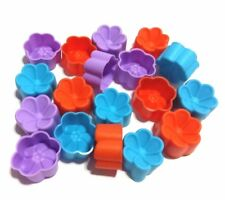 12Flower Silicone Soft Face Cake Mold Jelly Baking Chocolate Cupcake Muffin Soap