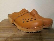 Vintage Mengen Clogs Women's Size 9.5 Made In Sweden Orthopedic Vntg Vtg