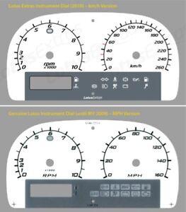 Lotus Elise Instrument Dial km/h Kilometers * NEW STYLE