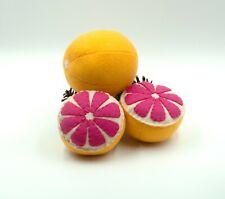 Felt food grapefruit, Play kitchen toys,Felt fruit, Plush toy