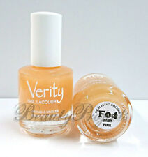 Verity Nail Lacquer Baby Pink F04 Nail Polish .5oz full size