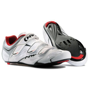Northwave Sonic 3S Shoe White Red Silver Size 41