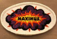 Vintage 70's Maximus Super Beer Patch  F. X. MATT BREWING CO  Utica NY Rare