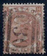 Great Britain #53, 10p red brown, used w/C30 (Valpariso Chile) cancel Scott $350
